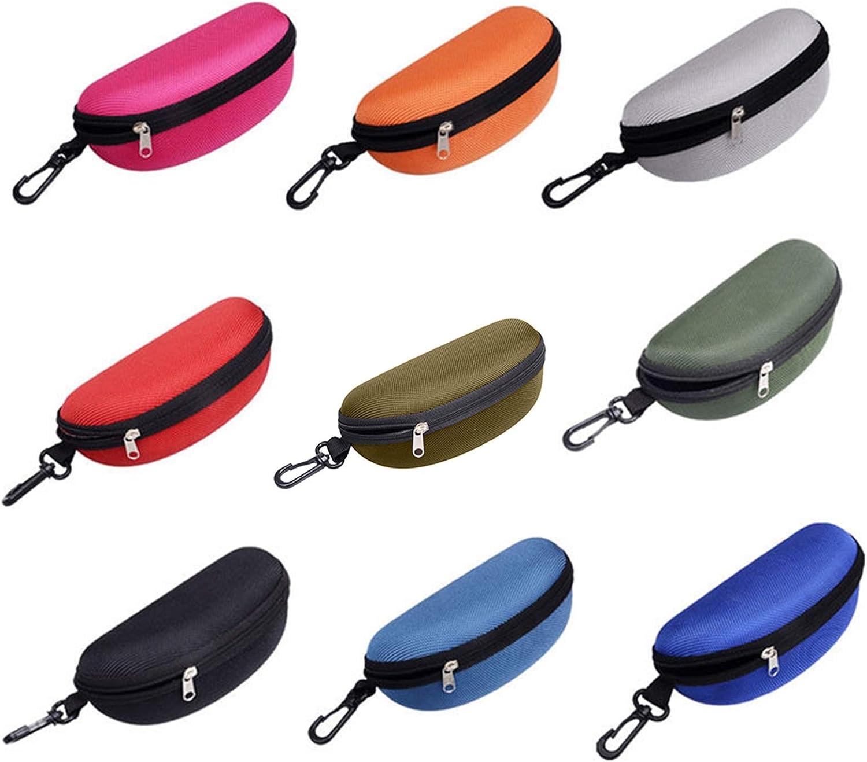 Fashion Portable Zipper Eye Glasses Protect EVA Hard Case Box Sunglasses Protective Case for Students, Men,Women