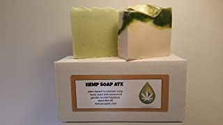 Amazing Hemp Oil Soap- set of 2 USA Homemade Hemp Soap Bars made with Hemp Seed and Coconut Oil
