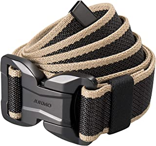JUKMO Tactical Belt, Military Style Rigger 1.5 Inches Nylon Web Belt with Magnetic Heavy-Duty Quick-Release Buckle