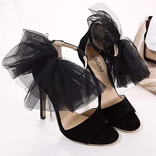 HBDLH Chaussures pour pour femmes 19 L'été T-chaussures Talon De 12 Cm De Haut De Dentelles De Fleurs De Modèles De Bouche De Poisson Un Mot Button Mode Bien des Talons Sandales  bienvenue à l'ordre