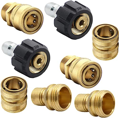 """lowest Twinkle popular Star Pressure Washer Adapter Set, Quick Disconnect popular Kit, M22 Swivel to 3/8'' Quick Connect, 3/4"""" to Quick Release outlet online sale"""