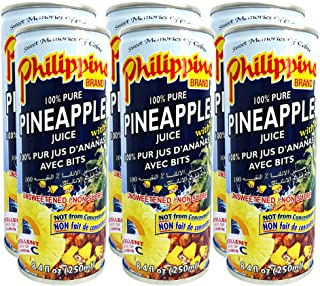 Philippine Pineapple Juice With Bits, 250ml, Pack of 6