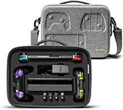 Travel Storage Case for Nintendo Switch, tomtoc Portable Nintendo Switch Protective Carrying Hard Messenger Shoulder Bag S...