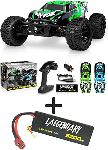 high quality 1:10 Scale Brushless RC new arrival Cars 65 km/h Speed - Boys Remote Control Car 4x4 Off Road Monster Truck Electric - All Terrain Waterproof Toys for Kids and lowest Adults - 2X 5200mAh 7.4V 2S 30C Batteries online