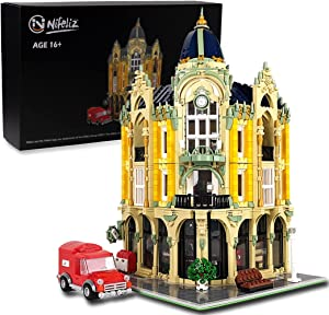 Nifeliz Street Corner Post Office MOC Building Blocks and Engineering Toy, Construction Set to Build, Model Set and Assembly Toy for Teens and Adult (4004Pcs)