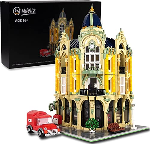 lowest Nifeliz Street 2021 Corner Post Office MOC Building Blocks and Engineering 2021 Toy, Construction Set to Build, Model Set and Assembly Toy for Teens and Adult (4004Pcs) online sale