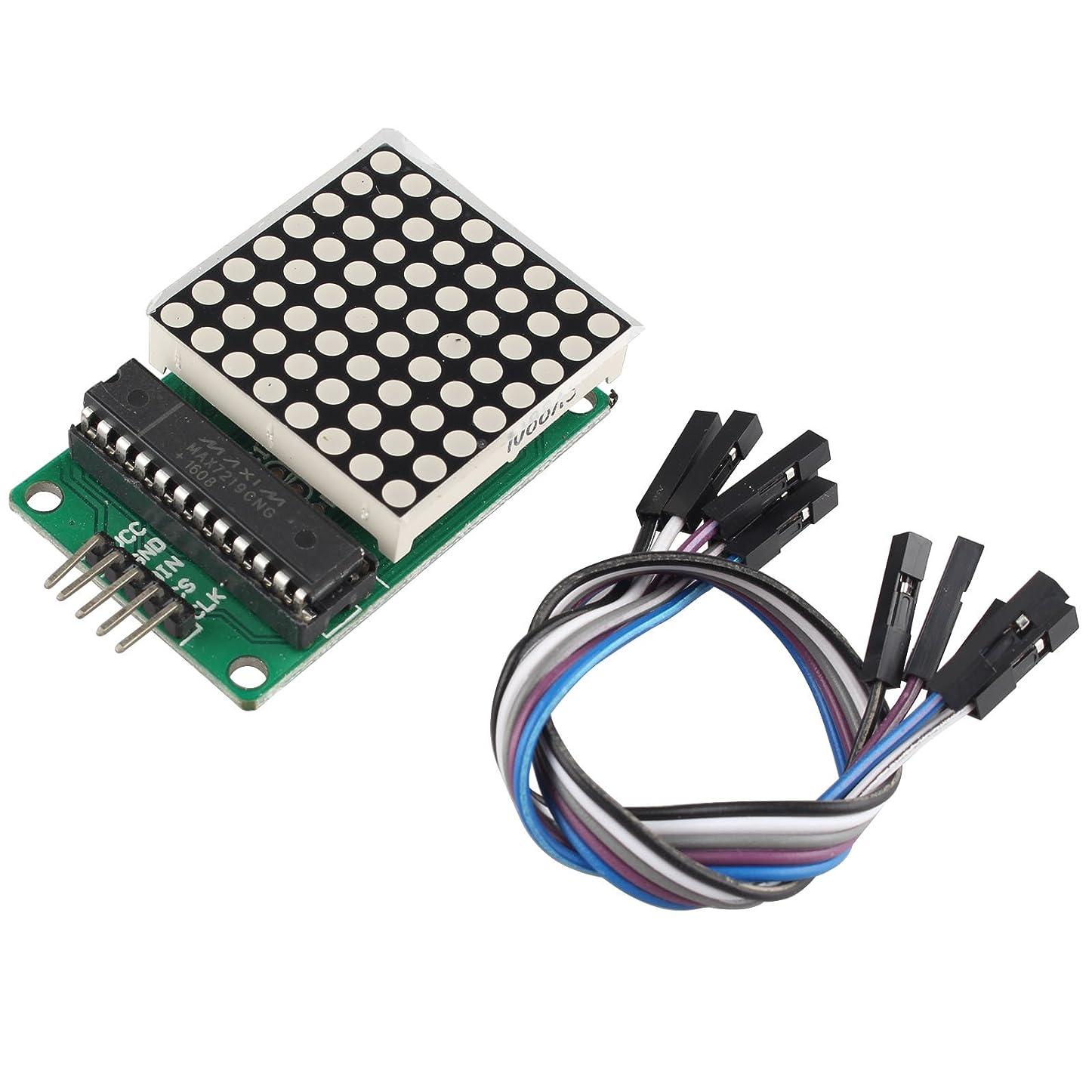 基本的なワーディアンケース充実MAX7219 ドットマトリックスモジュールDIYキット コントロールディスプレイ LED DIY デュポンケーブルで