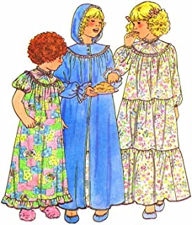 Butterick 6354 Toddler Nightgown Robe Vintage Sewing Pattern Size 2 - 3 - 4
