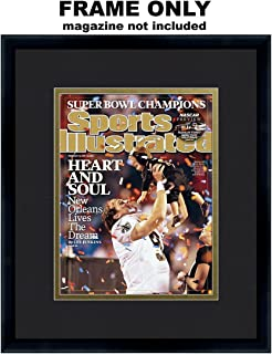 Sports Illustrated Magazine Frame - with New Orleans Saints Colors Double Mat