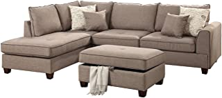 Poundex PDEX- Living Room Chaise Lounges, Mocha