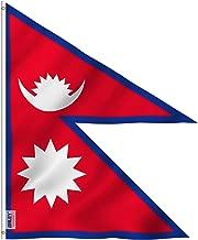 nepal flag on pole