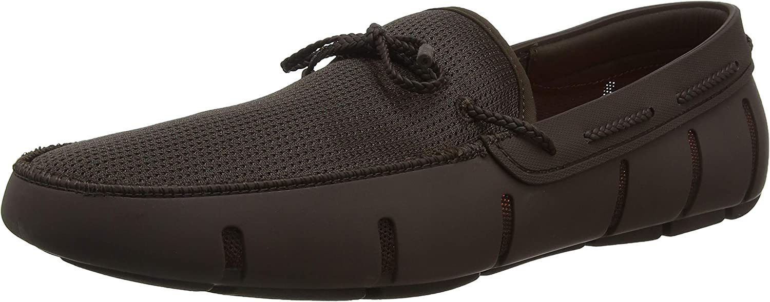 Swims Braided Lace Loafers - Brown