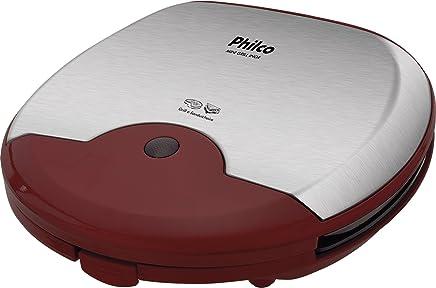 Mini Grill Inox, 220V, Philco 54002015, Vermelho, Philco, 54002015, Vermelho