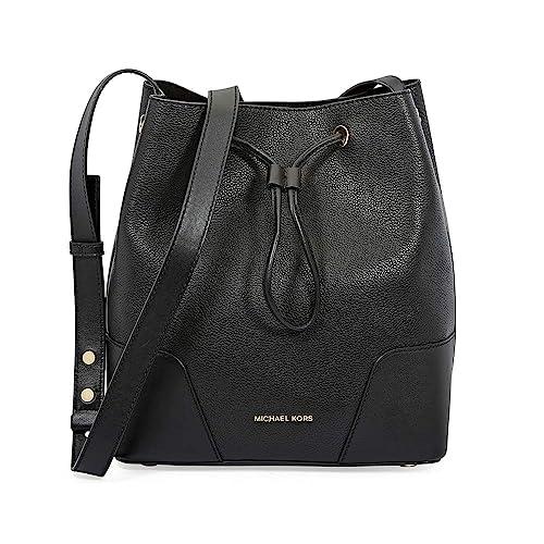 095d0d8f4dafbc Michael Kors Pebbled Leather Bucket Bag- Black