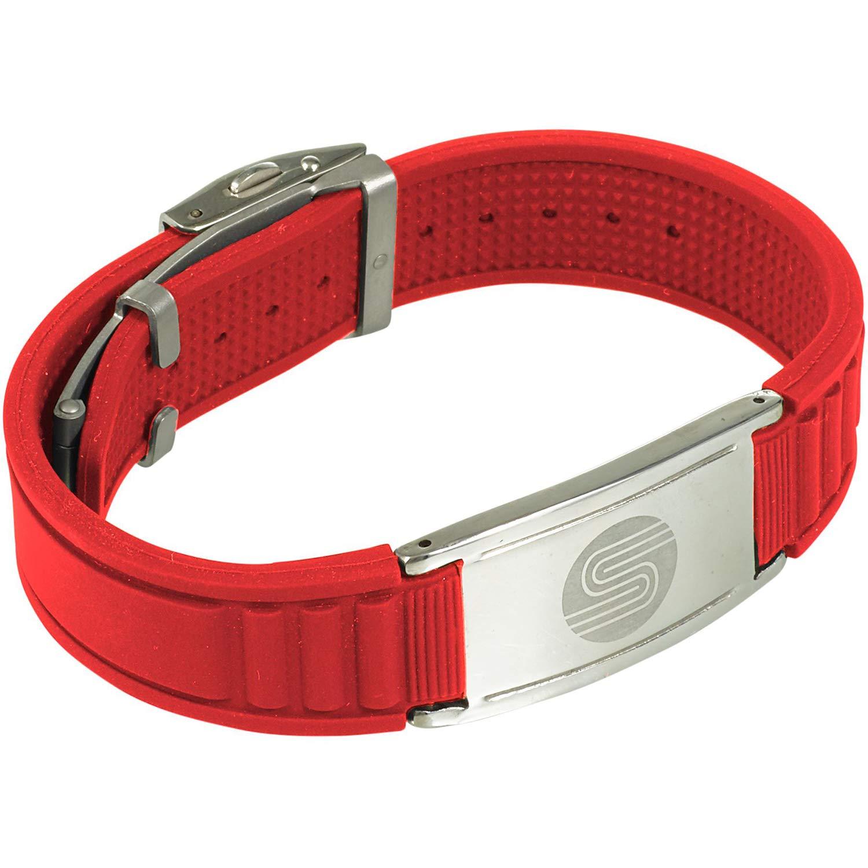 Elegante pulsera de silicona 4 en 1, marca Satori, cargada con iones negativos y germanio, ideal como pulsera de terapia, regalo perfecto tanto para mujeres como para hombres, Coral: Amazon.es: Deportes y