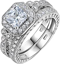Best silver square wedding rings Reviews