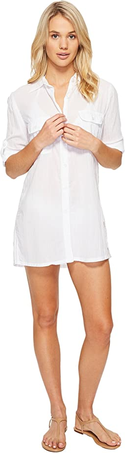 LAUREN Ralph Lauren Crushed Camp Shirt Cover-Up