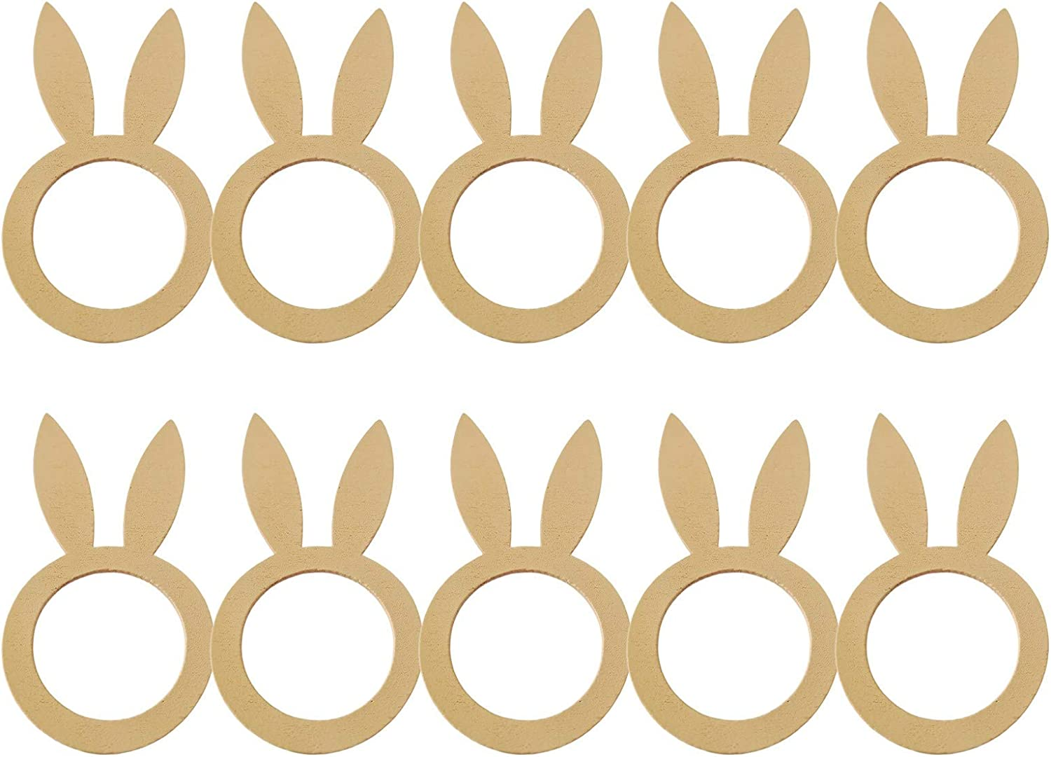 Fasouem 10PCS Wood Courier shipping free Rabbit Napkin for 35% OFF Ring Decoration Easter Nove