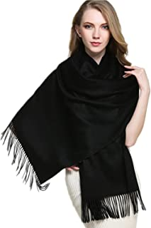 """Cashmere Wrap Shawl Stole for Women Winter Extra Large(79"""" X 28"""") Men Solid Lambswool Pashmina Scarf with Gift Box"""