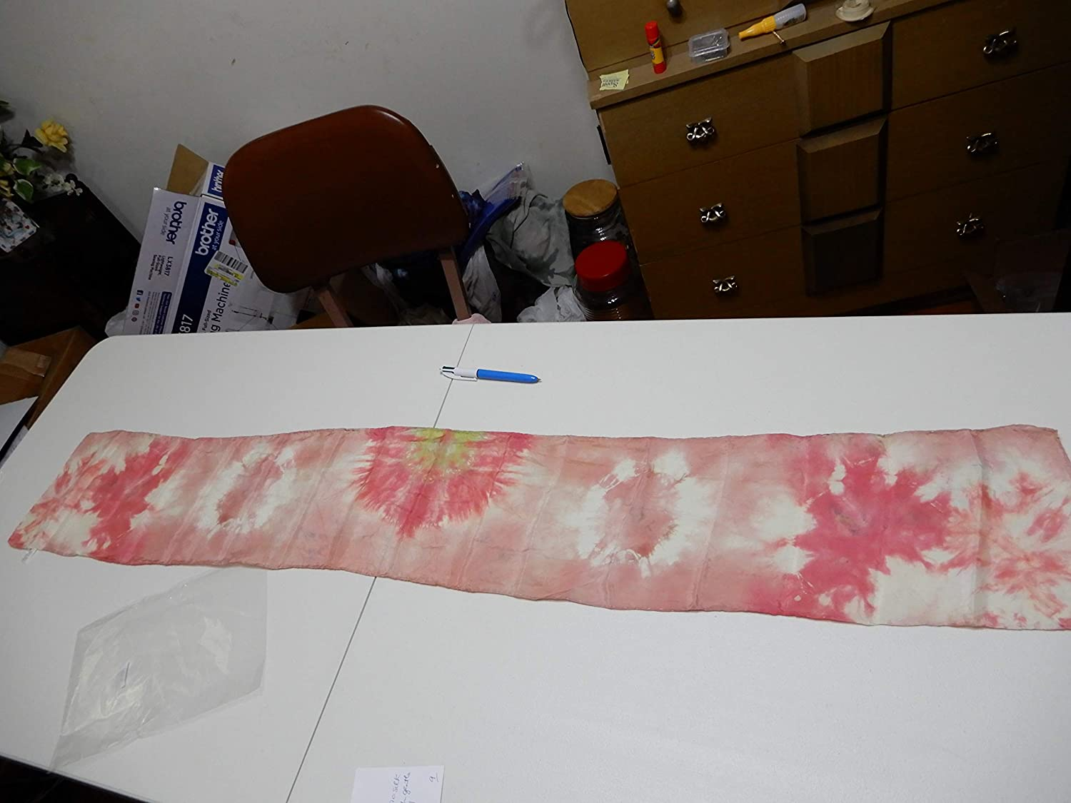 Online limited product Shibori Popular shop is the lowest price challenge Silk Scarf 54