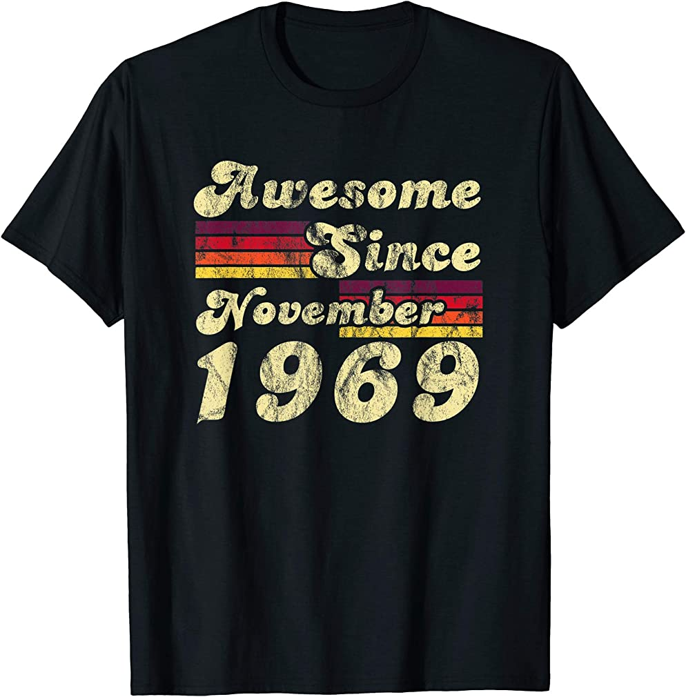 Awesome Since November 1969 50th Birthday Retro Gift T-shirt