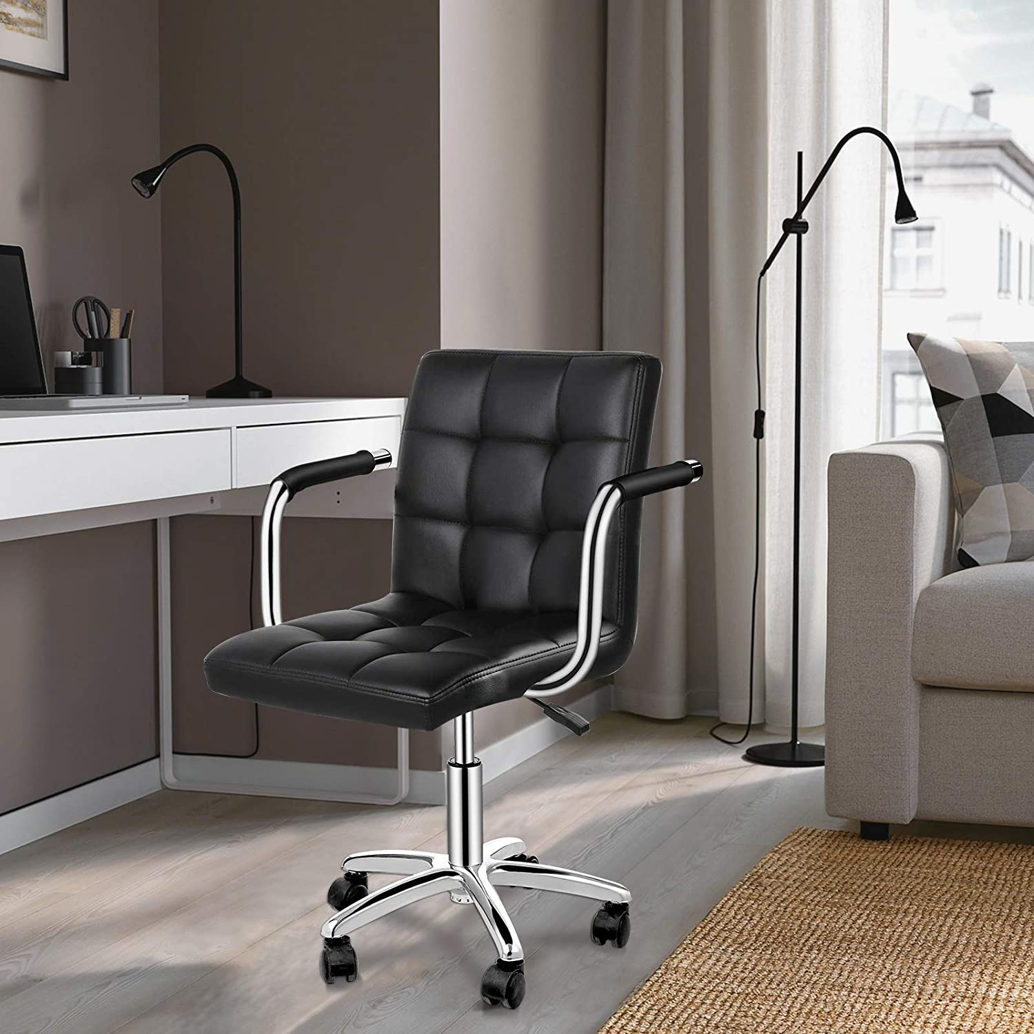 Houssem Home Ranking TOP7 Dealing full price reduction Office Desk Chair Erg Upholstered Leather PU Modern