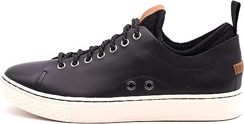 Polo Ralph Lauren chaussures DUNOVIN in Pelle Pelle Nere  grand choix et livraison rapide