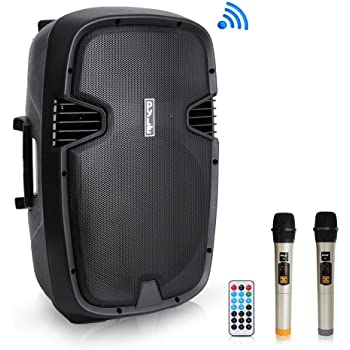 """YAT YM8003 8/"""" Portable Active DJ PA Rechargeable Speaker Bluetooth USB SD w// Mic"""