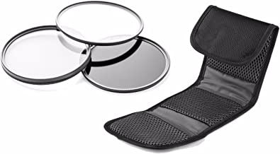 Sony Alpha A6000 High Grade Multi-Coated, Multi-Threaded, 3 Piece Lens Filter Kit (62mm) Made by Optics + Nw Direct Microfiber Cleaning Cloth.