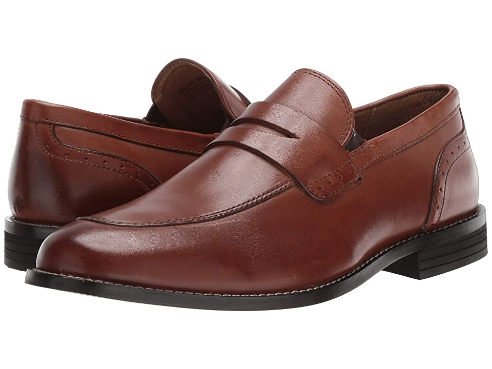 Nunn Bush Strata Moc Toe Dress Casual Penny Loafer Dress (Cognac) Men