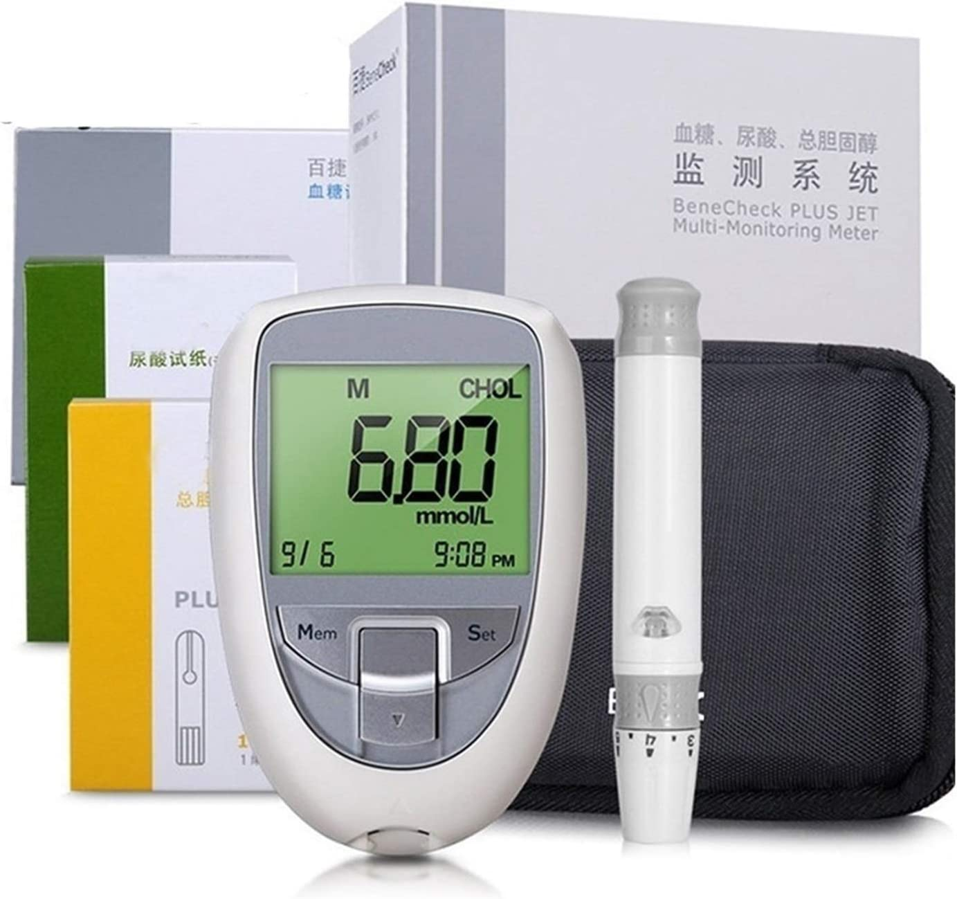 New Shipping Free HTTDD 3 in 1 Spasm price Blood Glucose Meter Multi-Function Test Str Tester