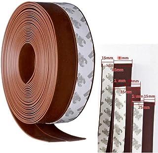 風防止テープ 隙間テープ 補修テープ 自動ドア サッシ防風 防寒 冷暖房効率アップ 防騒音 ホコリ侵入防止 窓枠 シール 扉の隙間 ドア下部シールテープ 空き間テープ(ブラウン, 4.5cmx10m)
