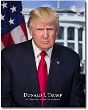 President Donald Trump Official Presidential Portrait With Name 8x10 Silver Halide Photo Print