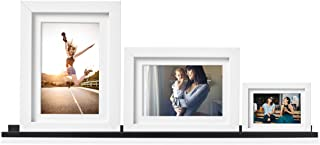 Wallniture Denver Wall Mounted Floating Shelf, Long Picture Ledge and Bookshelf for Chic Home Decor, 46 Inch, Black