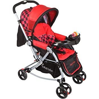 Tiffy & Toffee 3 in 1 Baby Stroller Pram (Red/Black)