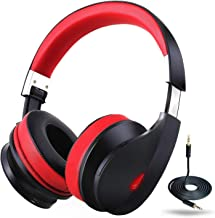 Wireless Bluetooth Headphones Over Ear, Ausdom AH2-1 Stereo Bass Foldable Wireless Wired Headsets with Microphone 20-Hrs Playtime, Memory Foam 40mm Drivers for PC/Cell Phones/TV