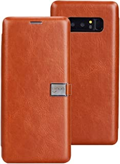 Protective Case Compatible with Samsung Compatible Samsung Galaxy Note 8 PU + TPU Crazy Horse Texture Horizontal Flip Leather Case with Card Slots Phone case (Color : Brown)