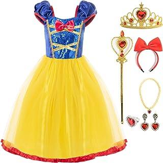 FUNNA Princess Costume for Girls Sequins Dress Elastic Waist
