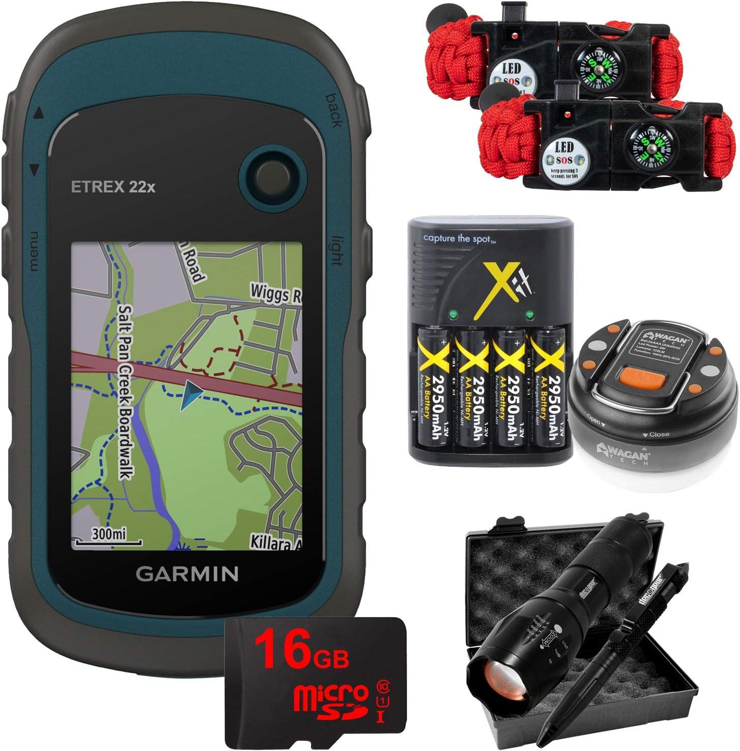 Garmin eTrex 22x: Rugged Handheld 2021 with Camping 16GB Save money GPS Hiking