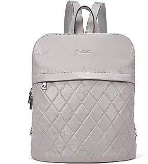 BOSTANTEN Damen echt Leder Rucksack Schulrucksack Reiserucksack Casual Backpack Daypacks Grau