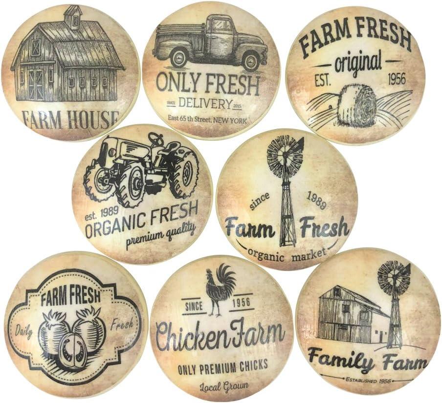 Set of Two 1.75 Drawer Pulls Rustic Farmhouse Hardware KENSINGTON Vintage Knobs Cabinet Knobs