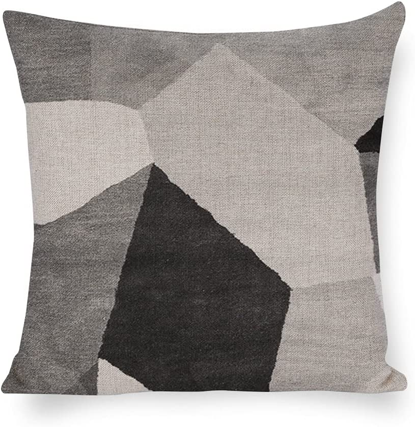 Pillow Cases The Geometric Figure with Limited price Grey Colo White and Black Tucson Mall
