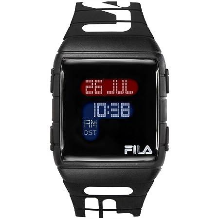 FILA Digital Watch Men - Digital Watches for Men - Digital Watches for Women - Silicone Bracelet Watch - Fila Watches for Men - Digital Bracelet Watch - Silicone Watch - Black Fila Watch