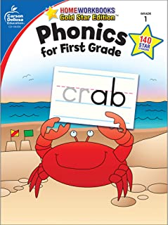 Carson Dellosa | Phonics for First Grade Workbook, 64pgs (Home Workbooks)