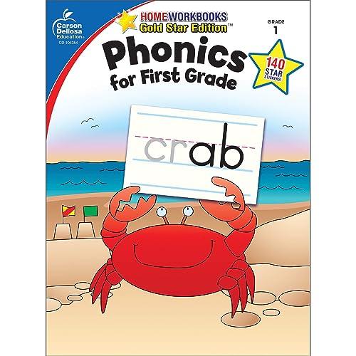 Carson Dellosa   Phonics for First Grade Workbook, 64pgs (Home Workbooks)