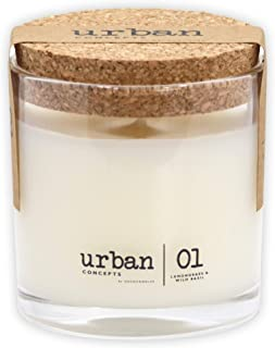 Urban Concepts by DECOCANDLES | Tranquility – Lemongrass & Wild Basil –..