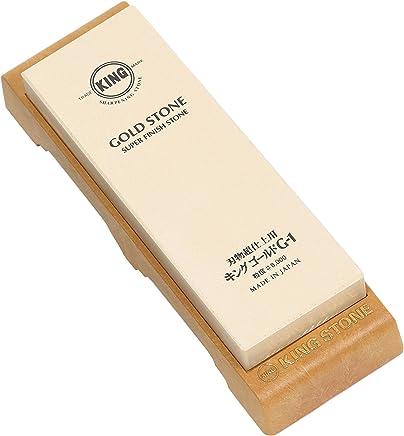 キングゴールド 研ぎ器 刃物超仕上用砥石 台付 #8000 最終超仕上用 G-1