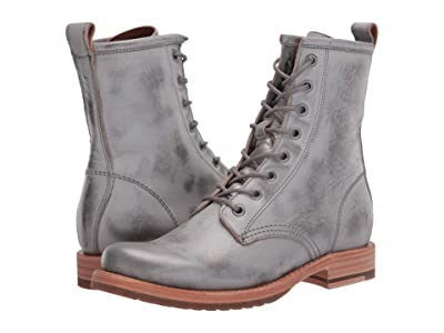 Frye Veronica Combat (Silver Sky Brush-Off Metallic) Women