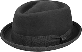 Lipodo Gratus Pork Pie Felt Hat for Men Women Made in Italy Fedora Summer / Winter Porkpie with Grosgrain Ribbon Wool Hat