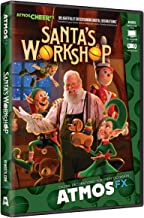 AtmosFX Santa's Workshop Digital Decorations DVD for Christmas Holiday Projection Decorating